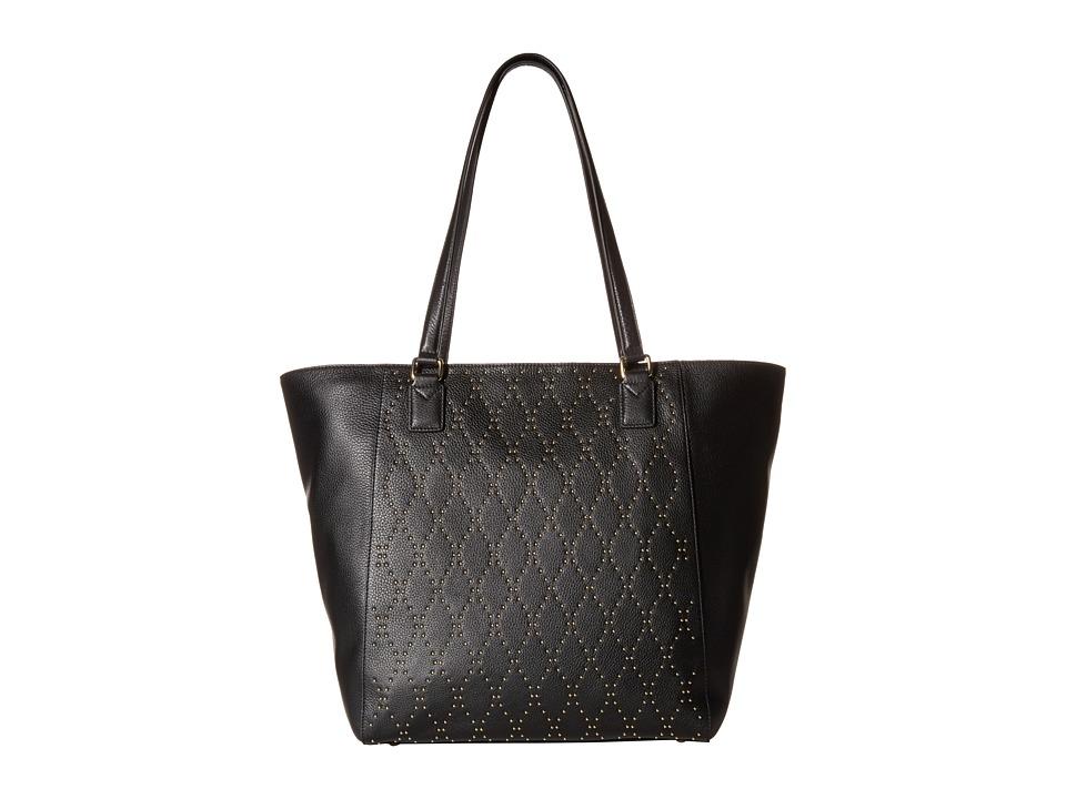 Vera Bradley - Micro-Stud Ella Tote (Black/Gold Tone) Tote Handbags