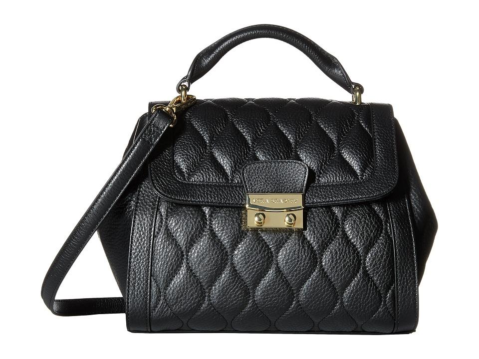 Vera Bradley - Quilted Mini Stella Satchel (Black) Satchel Handbags