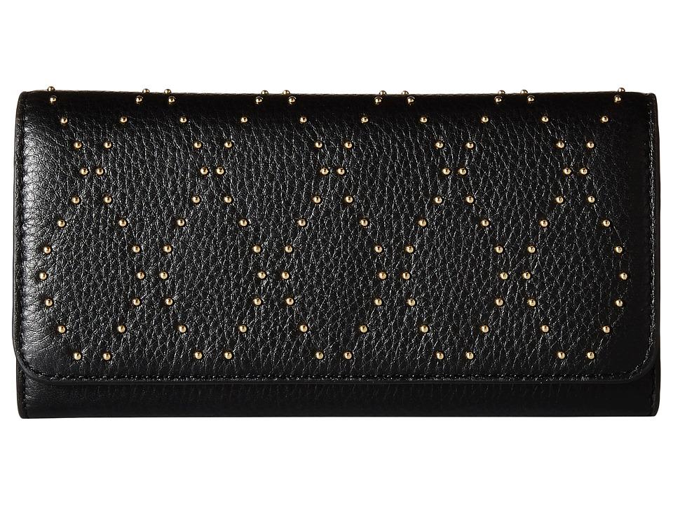 Vera Bradley - Micro-Stud Audrey Wallet (Black/Gold Tone) Wallet Handbags