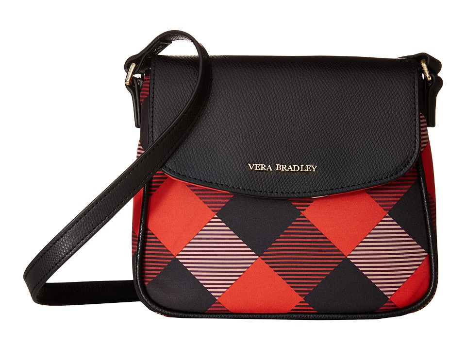 Vera Bradley - Crossbody (Buffalo Check Burnt Orange/Black) Cross Body Handbags