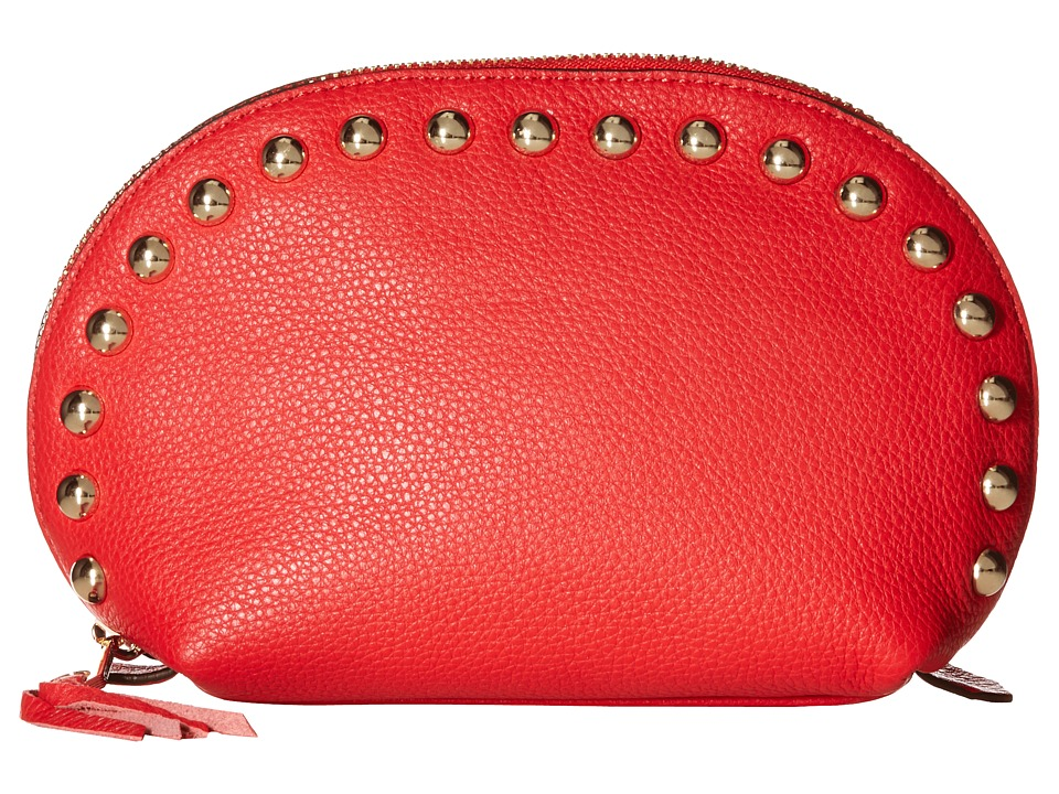 Rebecca Minkoff - Dome Pouch with Studs (Cherry) Clutch Handbags