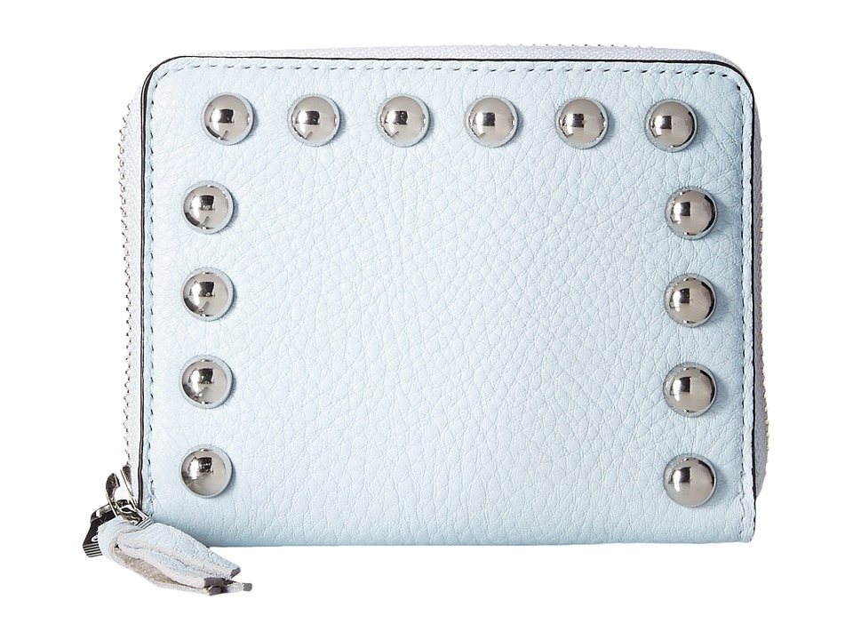 Rebecca Minkoff - Mini Ava Zip Wallet with Studs (Bleached Blue) Wallet Handbags