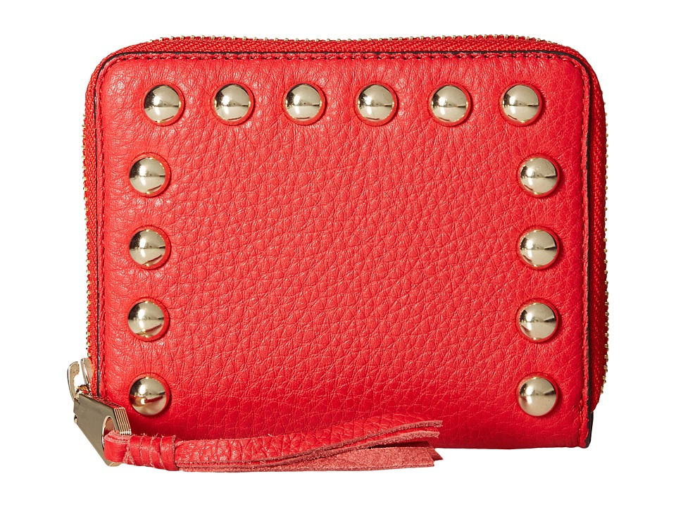 Rebecca Minkoff - Mini Ava Zip Wallet with Studs (Cherry) Wallet Handbags