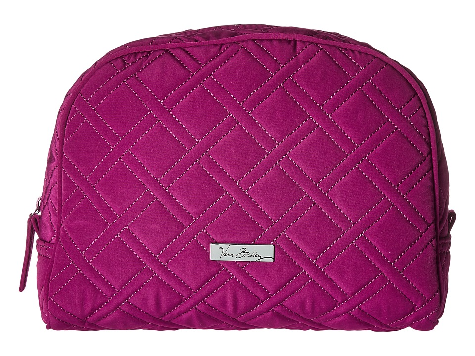 Vera Bradley Luggage - Large Zip Cosmetic (Plum) Cosmetic Case