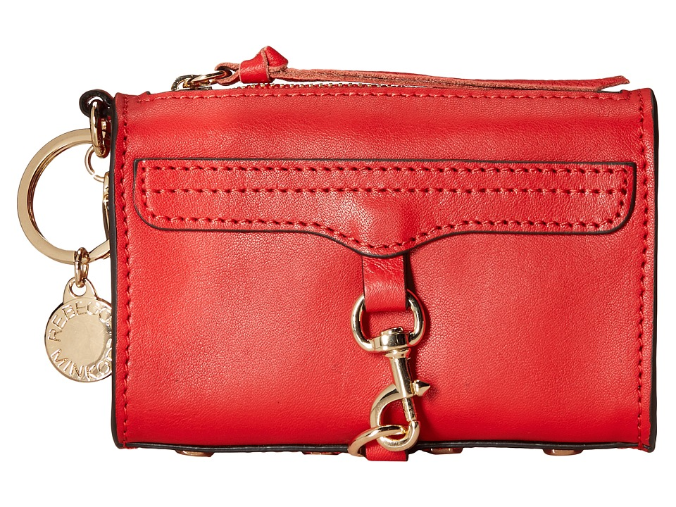 Rebecca Minkoff - Mini Mac Key Fob (Cherry) Credit card Wallet
