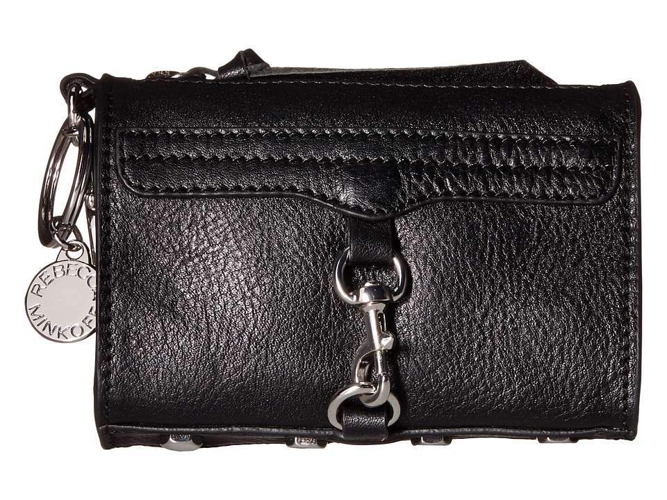 Rebecca Minkoff - Mini Mac Key Fob (Black) Credit card Wallet