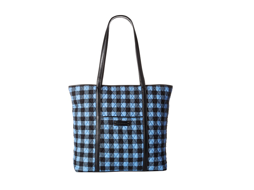 Vera Bradley Luggage - Trimmed Vera (Alpine Check/Black) Tote Handbags