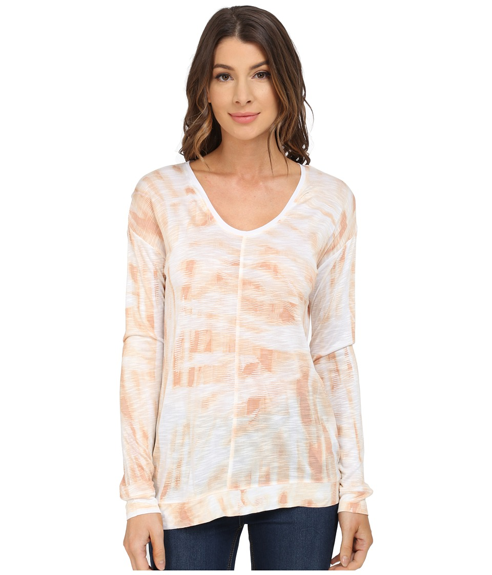 Calvin Klein Jeans Long Sleeve Downtown Tee (Nude) Women