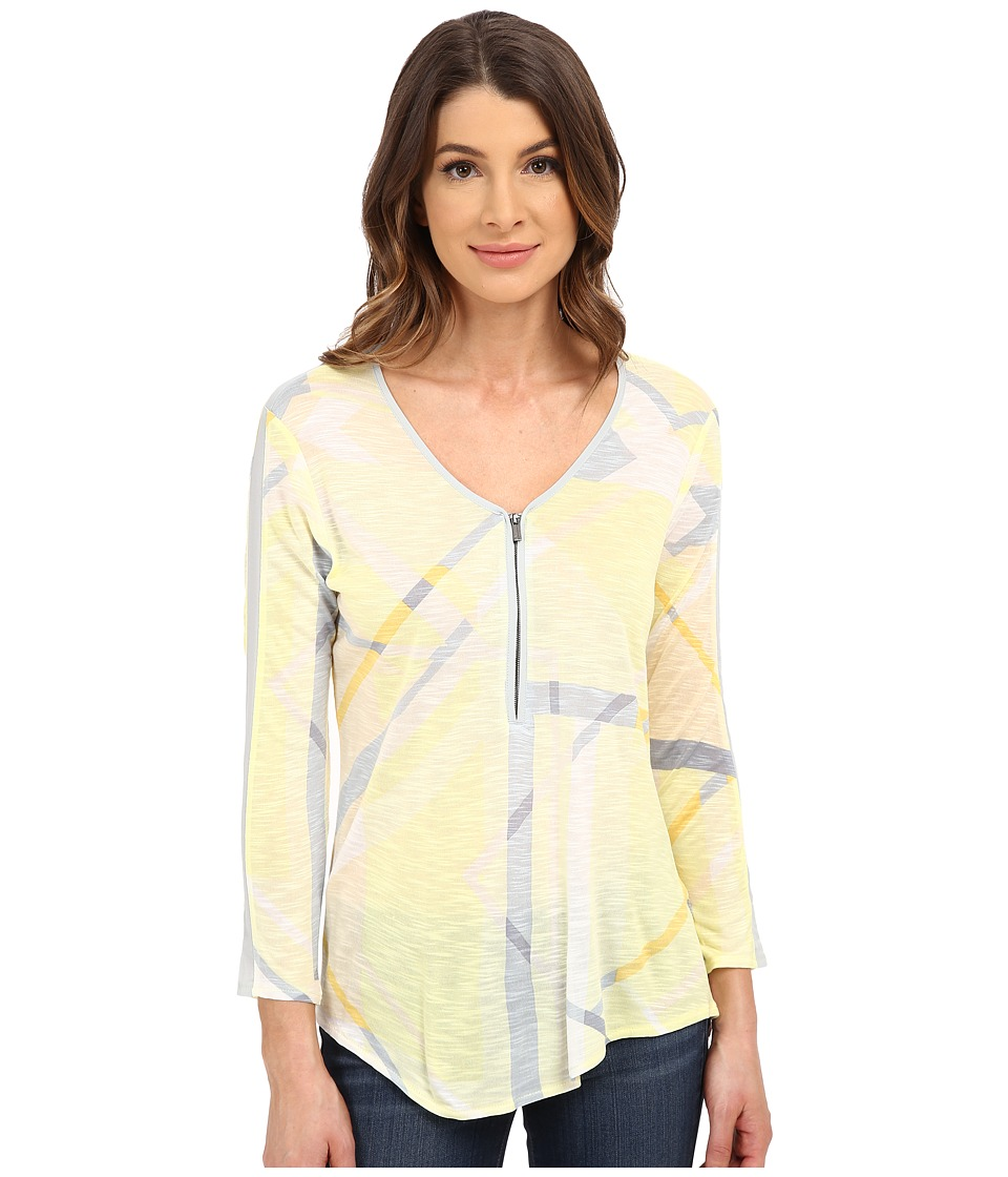 Calvin Klein Jeans - Long Sleeve Front Zip (Lemon Ice) Women