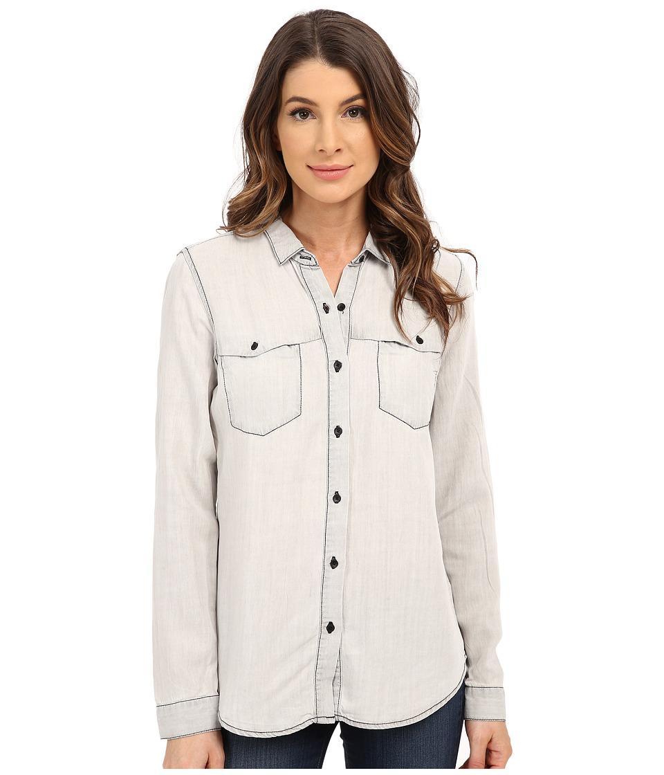 Calvin Klein Jeans - Long Sleeve Denim Shirt (Grey Sun) Women's Clothing