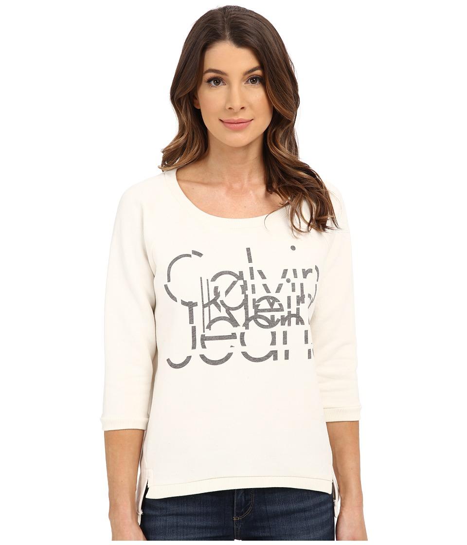 Calvin Klein Jeans - Calvin Glitch Tee (Pristine) Women's T Shirt