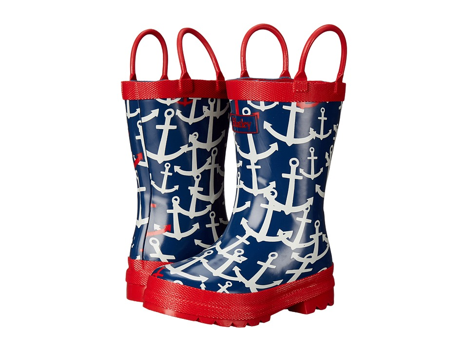 Hatley Kids - Scattered Anchors Rainboots (Toddler/Little Kid) (Navy) Girls Shoes