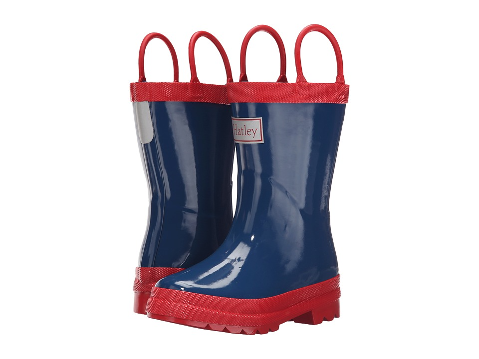 Hatley Kids - Navy Red Rainboots (Toddler/Little Kid) (Navy/Red) Kids Shoes