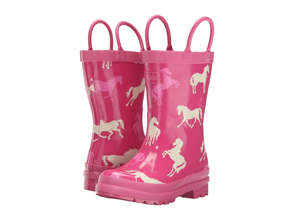 Hatley Kids - Classic Horses Rainboots (Toddler/Little Kid) (Pink) Girls Shoes