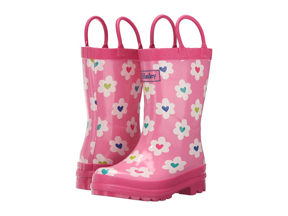 Hatley Kids - Flower Heart Garden Rainboots (Toddler/Little Kid) (Pink) Girls Shoes