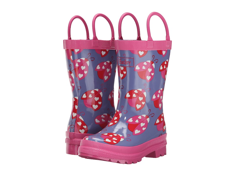Hatley Kids - Ladybug Garden Rainboots (Toddler/Little Kid) (Blue) Girls Shoes