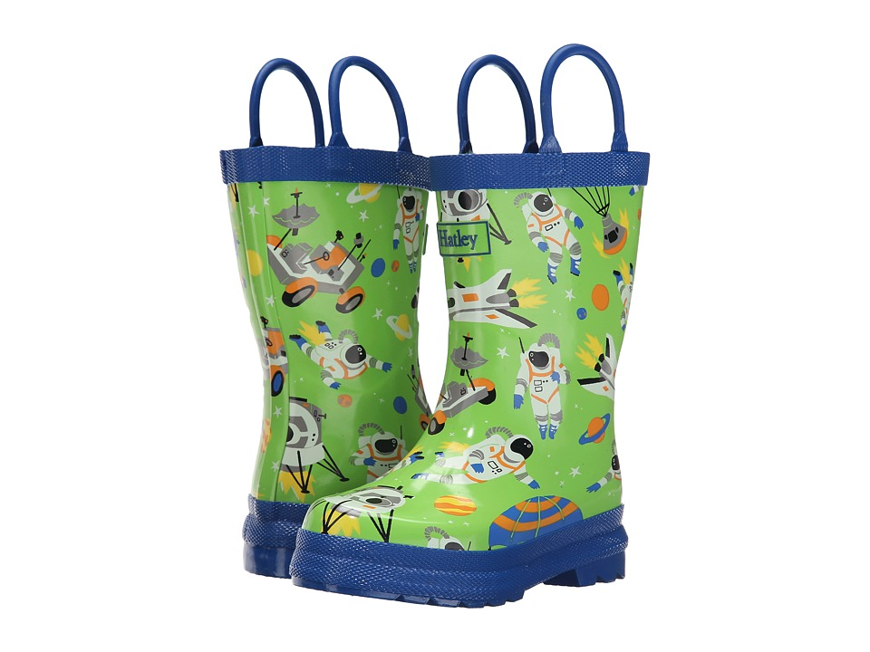 Hatley Kids - Astronauts Rainboots (Toddler/Little Kid) (Green) Boys Shoes