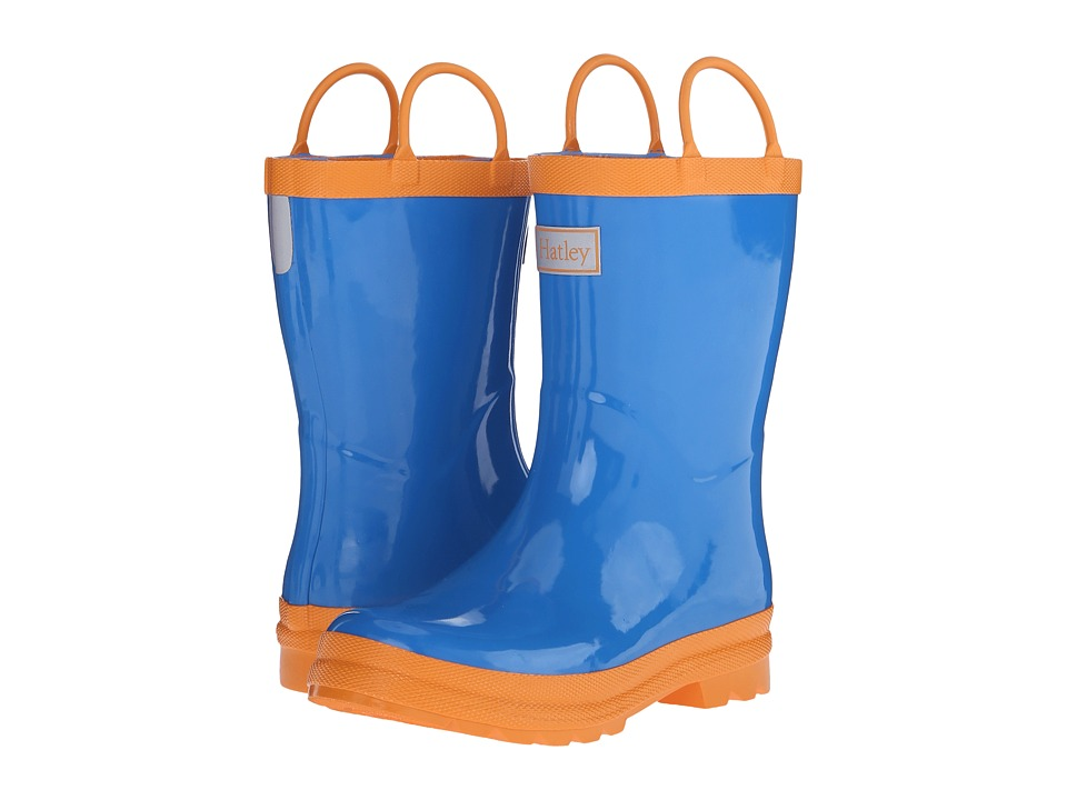 Hatley Kids Royal Blue Orange Rainboots (Toddler/Little Kid) (Royal Blue/Orange) Boys Shoes