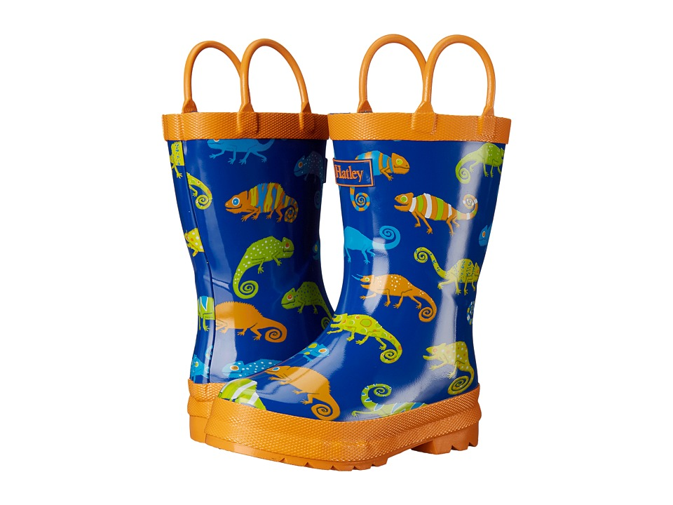 Hatley Kids Crazy Chameleons Rainboots (Toddler/Little Kid) (Royal Blue) Boys Shoes