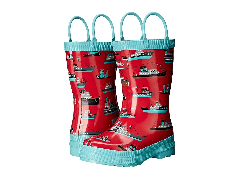 Hatley Kids Ocean Liner Rainboots (Toddler/Little Kid) (Red) Boys Shoes