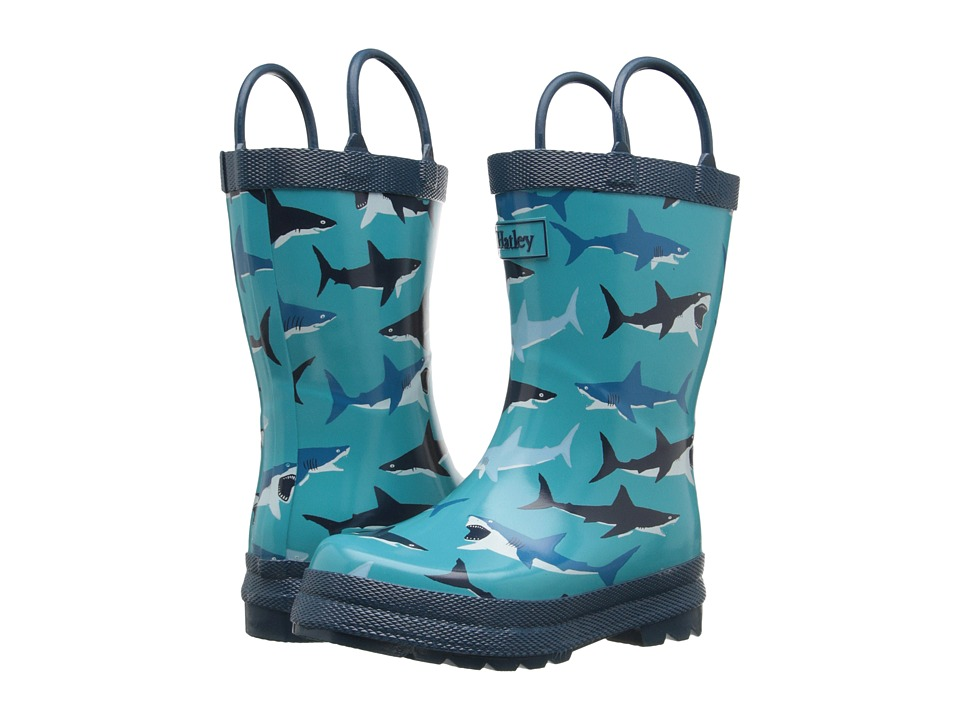 Hatley Kids Great White Sharks Rainboots (Toddler/Little Kid) (Blue) Boys Shoes