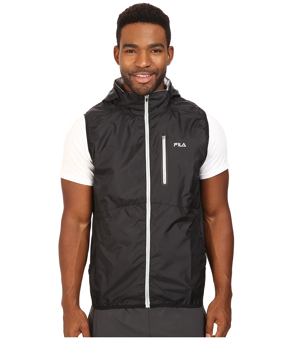 Fila - Stand Out Wind Vest (Black/High Rise) Men's Vest