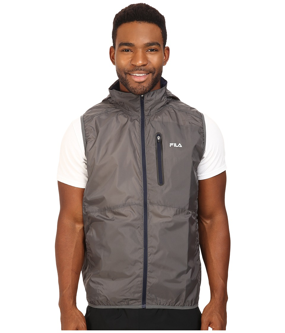 Fila - Stand Out Wind Vest (Pewter/Peacoat/Black) Men's Vest