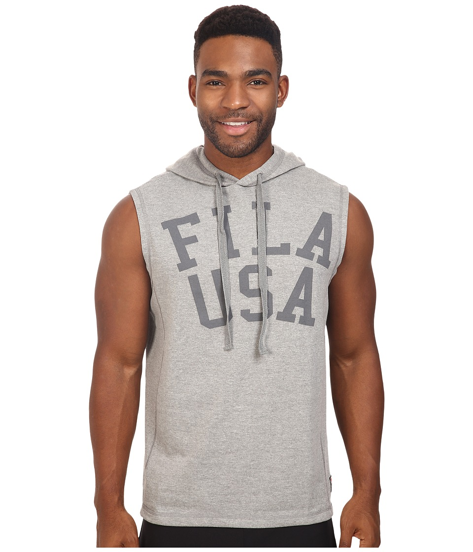 Fila - Gym Rat Sleeveless Hoodie (Varsity Heather) Men's Sweatshirt