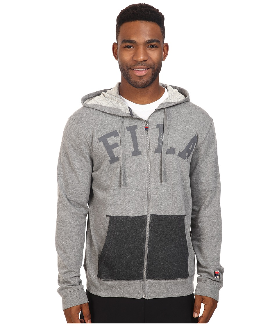 Fila - Gym Rat Full Zip Hoodie (Varsity Heather/Black Heather) Men's Sweatshirt