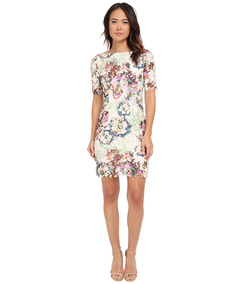 Tahari by ASL - Fiona - Q Dress (Taupe/Magenta/Mint) Women's Dress