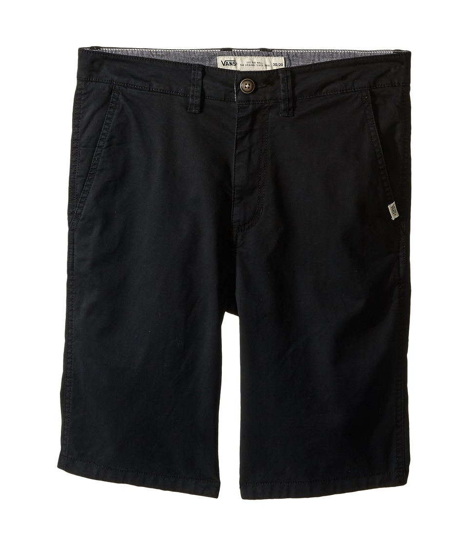 Vans Kids - Bedford (Little Kids/Big Kids) (Black) Boy's Shorts