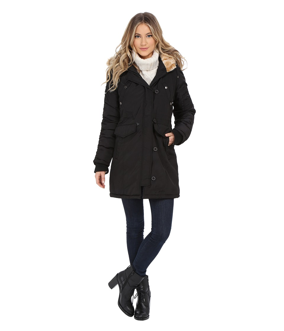 Steve Madden - Snorkel Coat (Black) Women's Coat