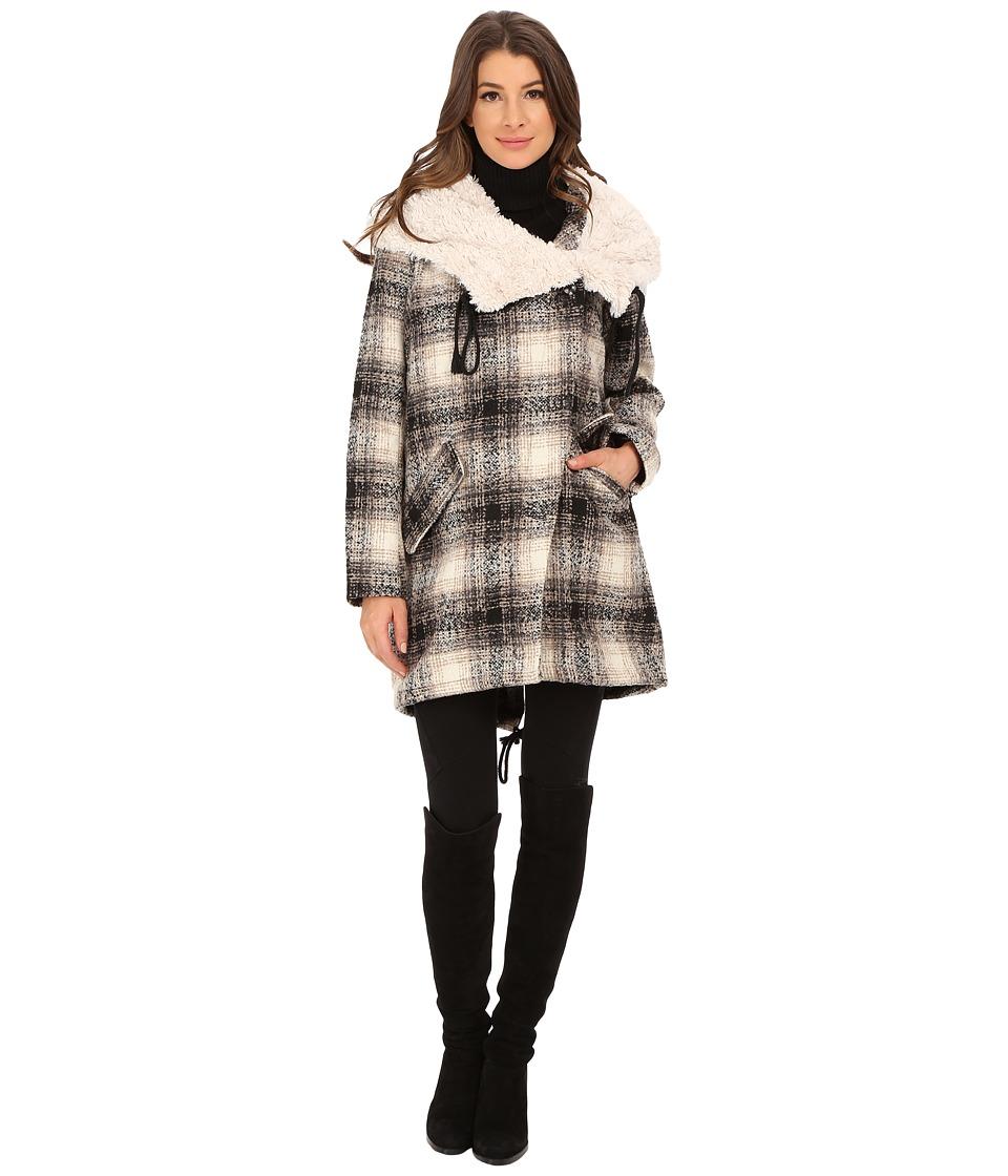 Steve Madden - Blanket Coat (Black/Cream) Women