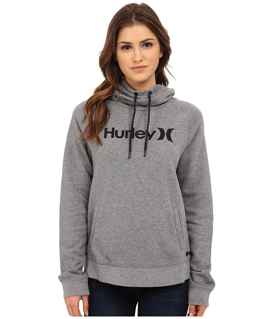 Hurley - Seaside Funnel Fleece (Heather Cool Grey) Women's Fleece