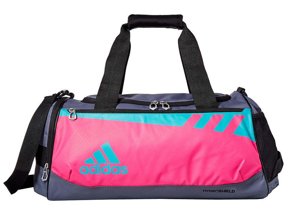 adidas - Team Issue Small Duffel (Shock Pink/Shock Green/Onix) Duffel Bags