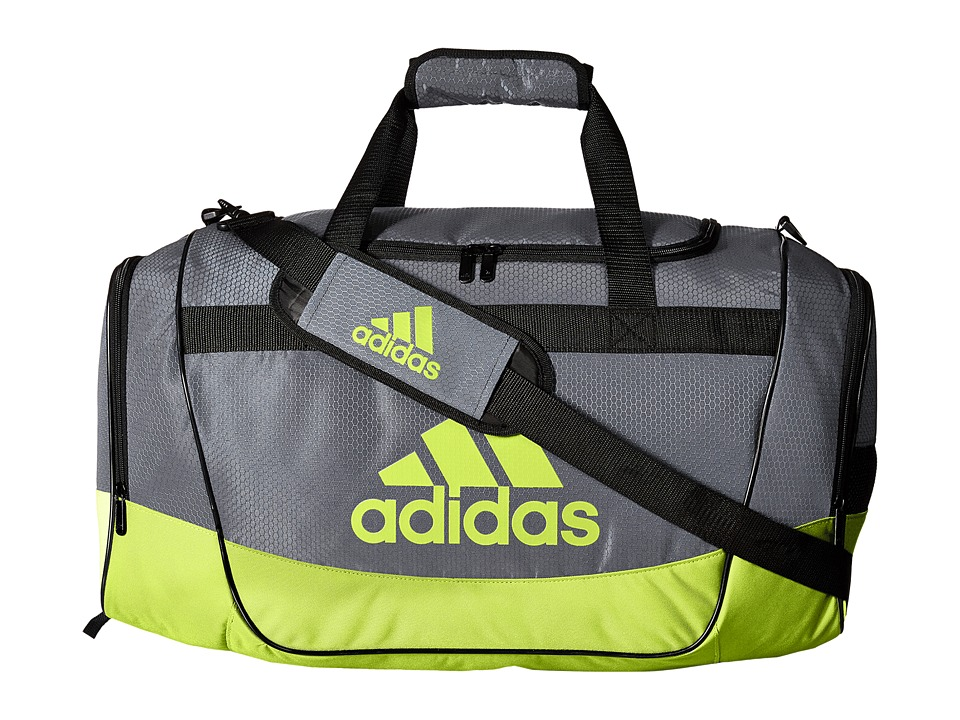 adidas - Defender II Medium Duffel (Onix/Semi Solar Slime) Duffel Bags