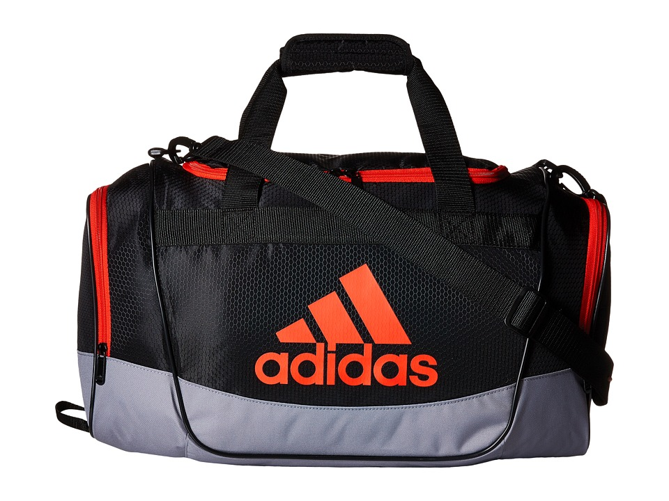 adidas - Defender II Small Duffel (Black/Grey/Bold Orange) Duffel Bags