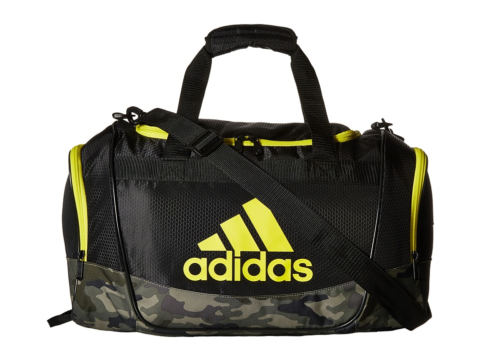 adidas - Defender II Small Duffel (Black/Cab Camo/Shock Yellow) Duffel Bags