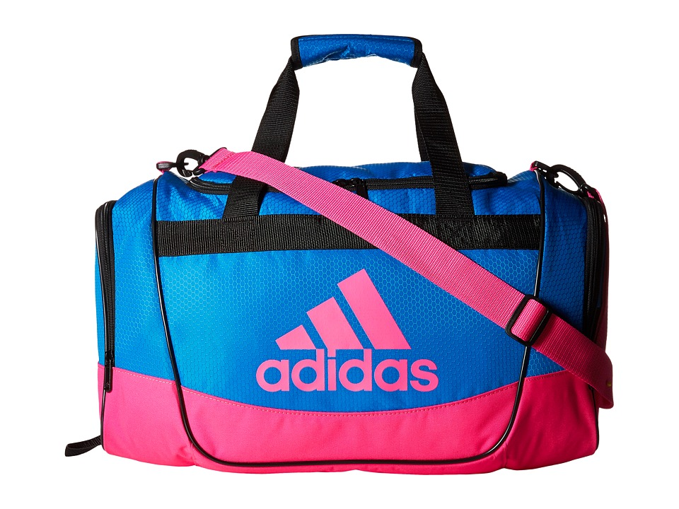 adidas - Defender II Small Duffel (Shock Blue/Shock Pink) Duffel Bags