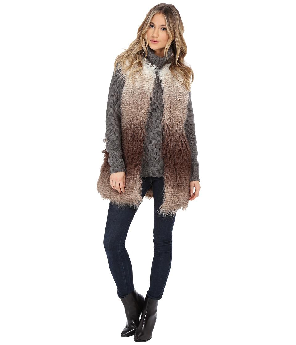 Steve Madden - Faux Fur Vest (Brown Ombre) Women's Vest