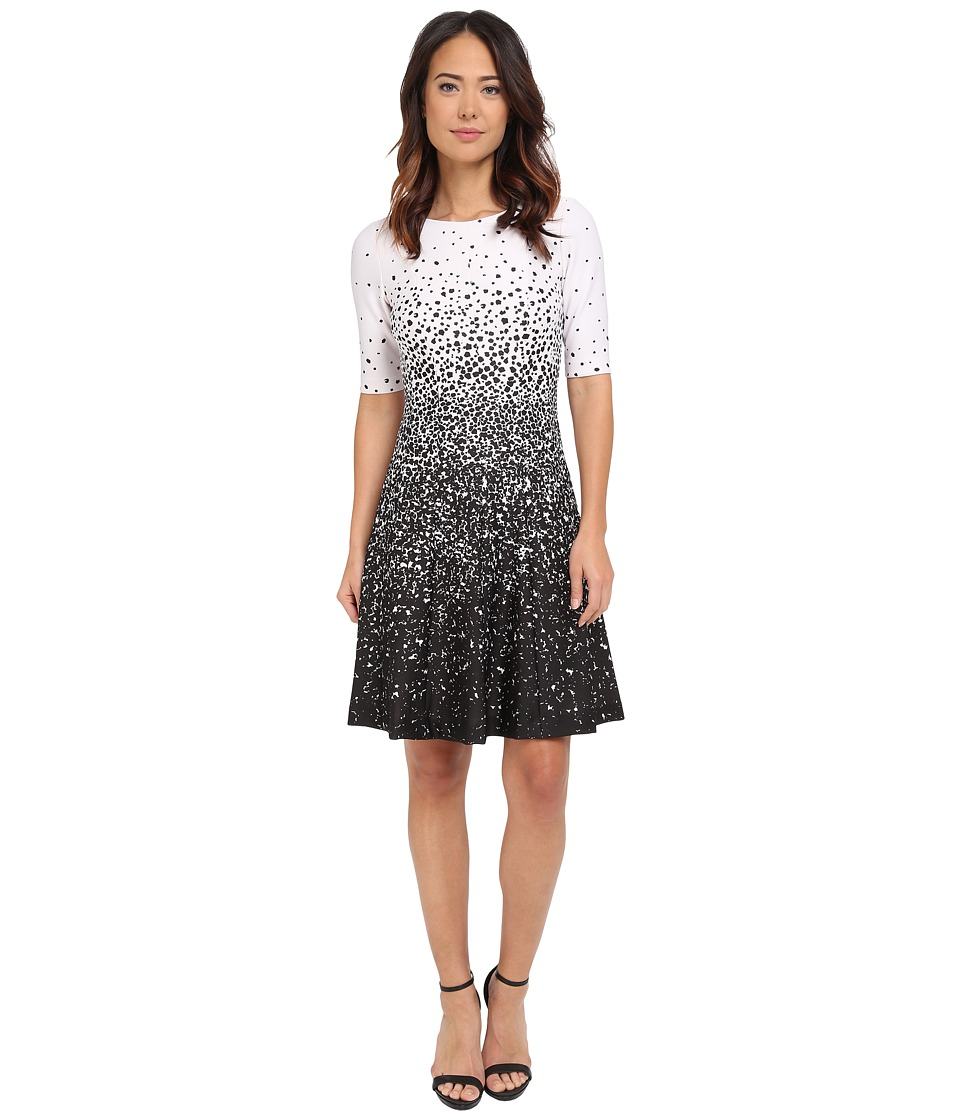 Tahari by ASL - Lisa - L Dress (Ivory White/Black) Women's Dress