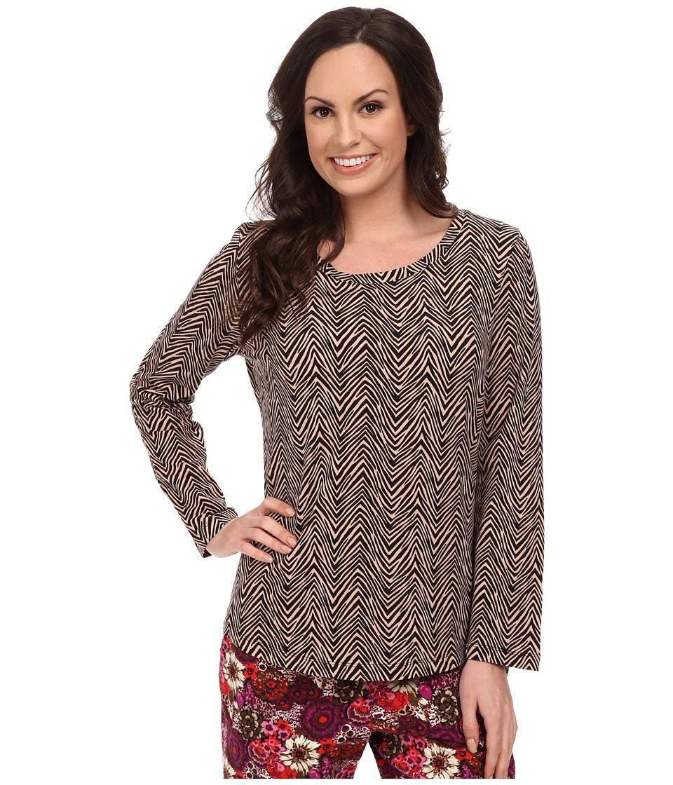 Vera Bradley - Cozy Knit Pajama Top (Zebra) Women's Pajama