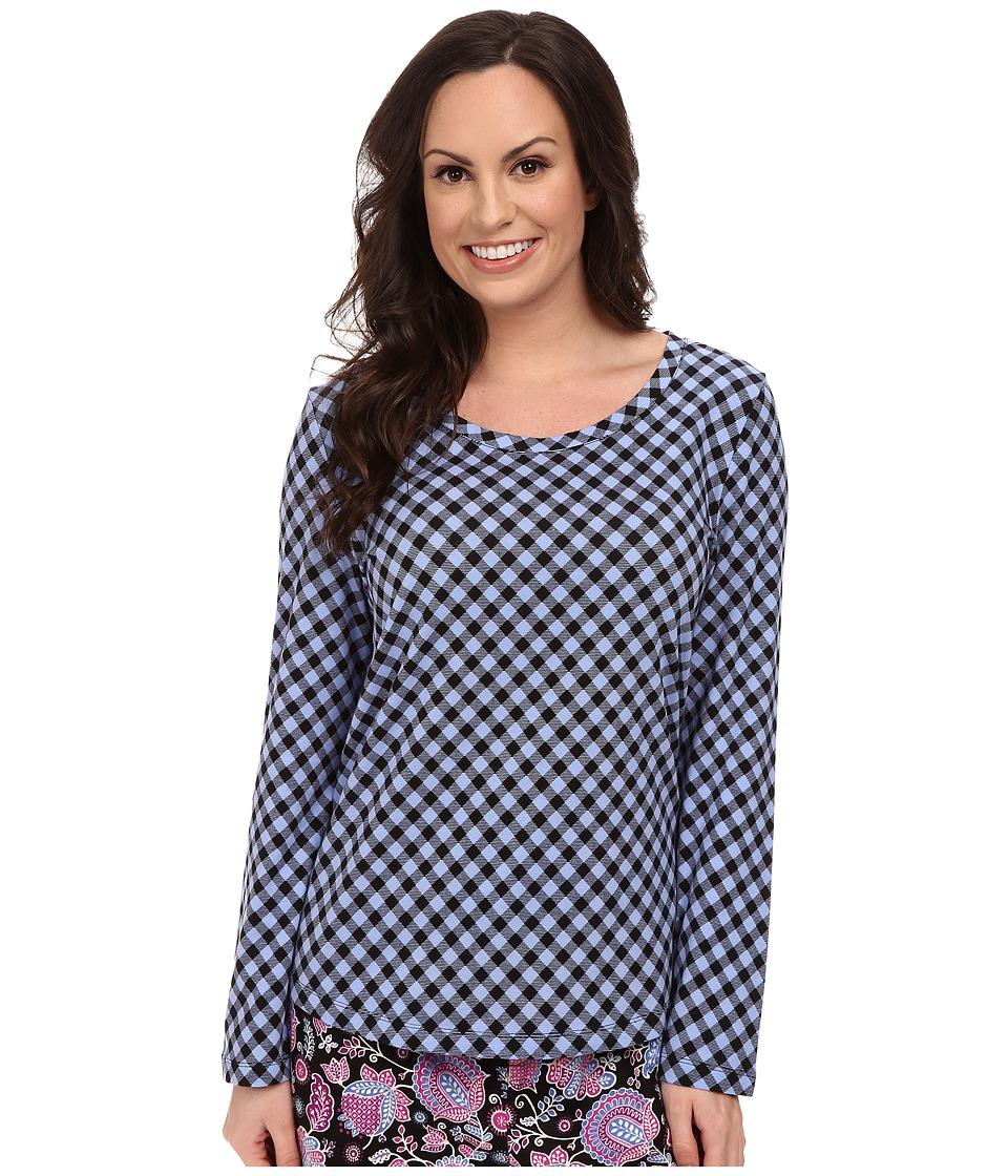 Vera Bradley - Cozy Knit Pajama Top (Alpine Check) Women's Pajama