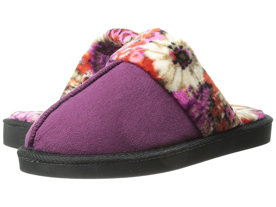 Vera Bradley - Cozy Slippers (Plum) Women