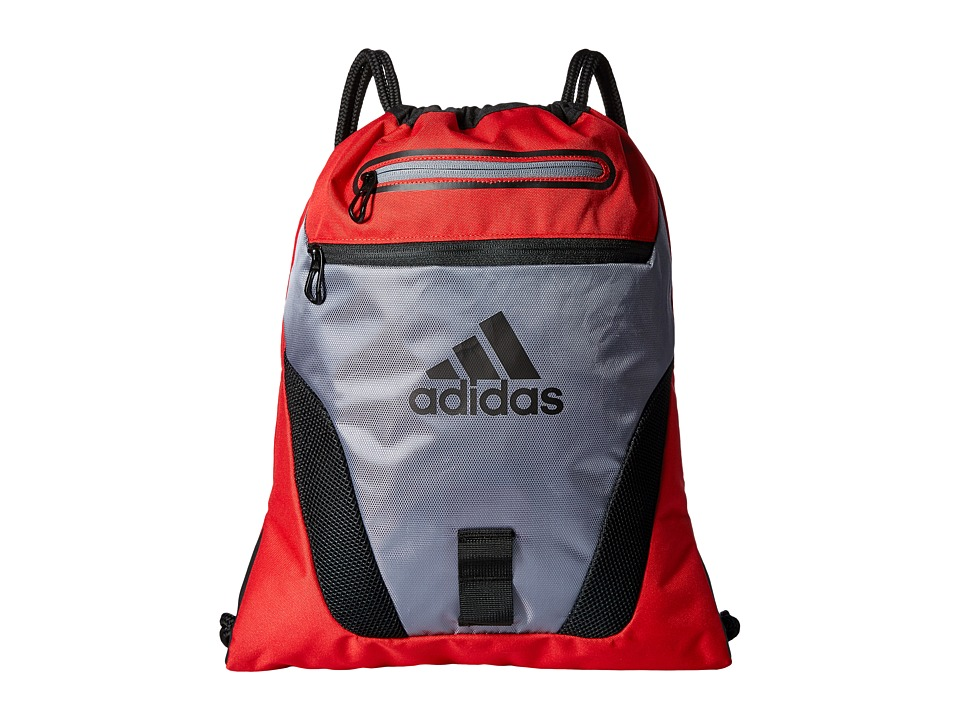 adidas - Rumble Sackpack (Grey/Scarlet/Black) Bags