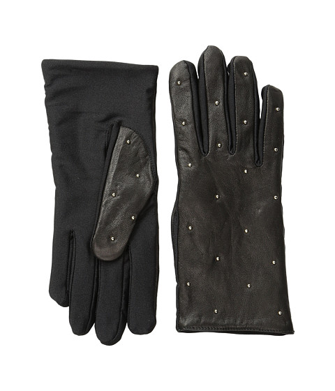 Vera Bradley - Micro-Stud Leather Gloves (Black) Dress Gloves