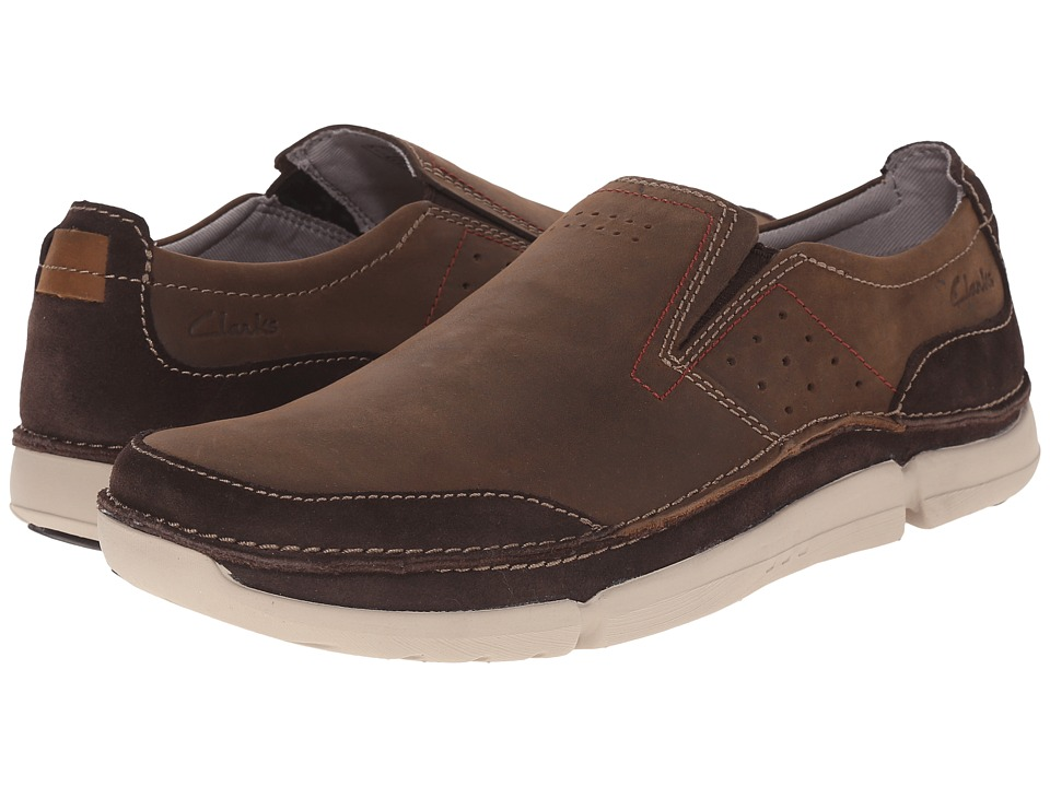 Clarks - Trikeyon Step (Brown Leather) Men
