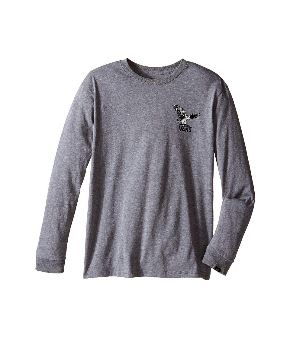 Vans Kids - Turkey Hawk Long Sleeve (Big Kids) (Heather Grey) Boy