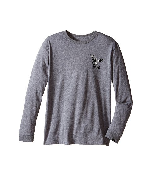 Vans Kids - Turkey Hawk Long Sleeve (Big Kids) (Heather Grey) Boy's T Shirt