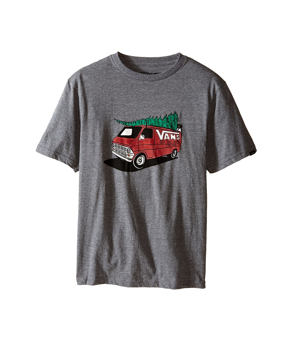 Vans Kids - Family Christmas (Big Kids) (Heather Grey) Boy's T Shirt